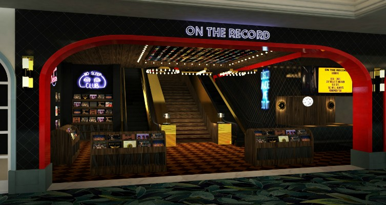 Rendering of the On The Record entryway.