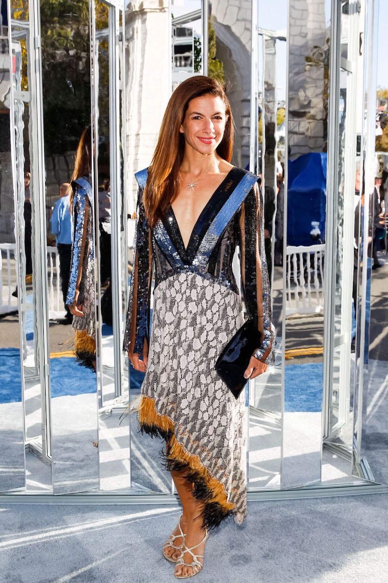 """Kinney says, """"Sabrina Buell's midi, high low approach to gala dressing is artistic."""""""
