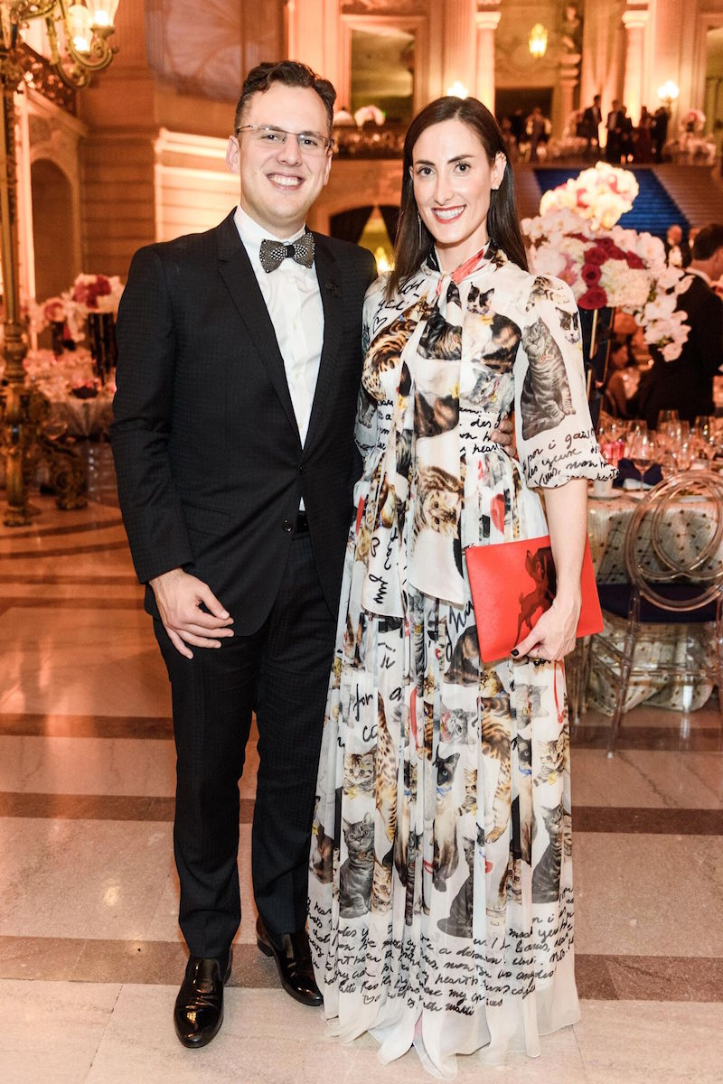 """Kinney says, """"Kaitlyn Krieger's Dolce and Gabbana cat dress stole the show. Mike looked super chic in Dior."""""""