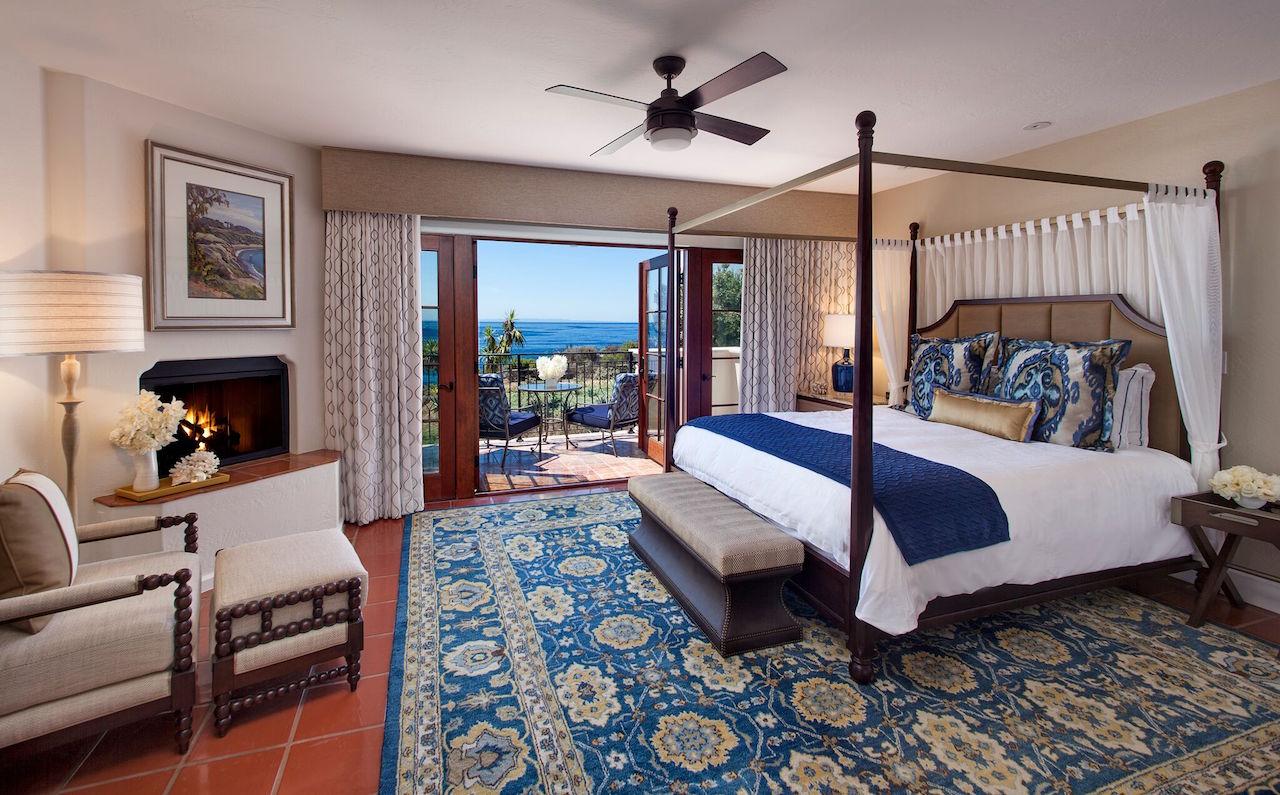 An ocean front guestroom
