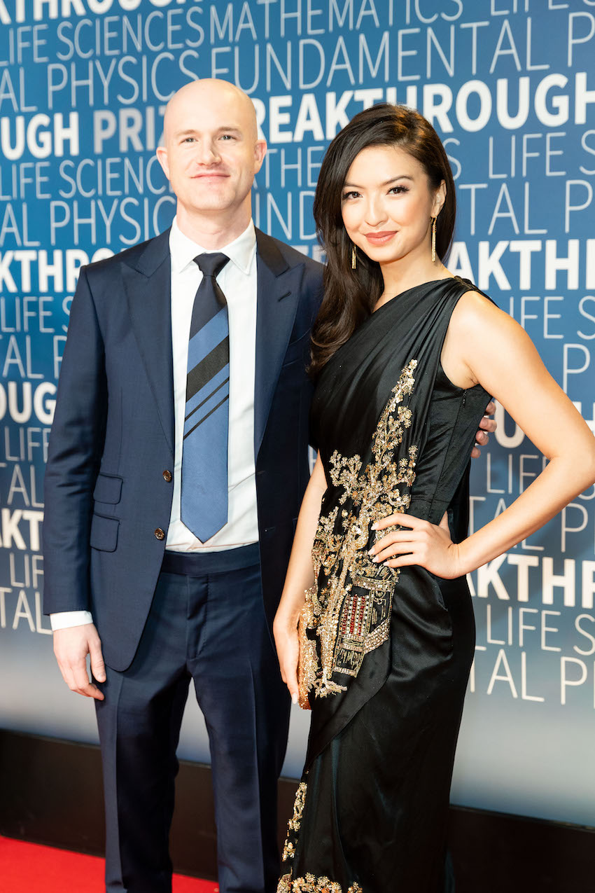 Brian Armstrong and Raline Shah