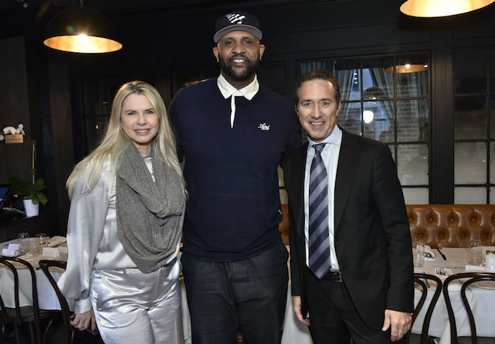 CC Sabathia, Michelle Judd, and Ian Reisner attend the Amber And CC Sabathia Cheer On Team 52 Marathon With Haute Living, Armani Casa And Brooklyn Chophouse on November 3, 2018 in New York City.