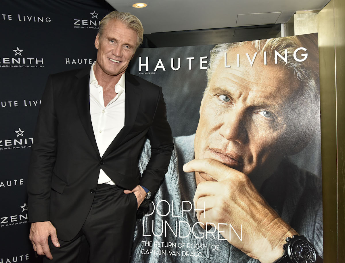 Dolph Lundgren attends the Haute Living And Zenith Honor Dolph Lundgren at Mr Chow in Tribeca on November 12, 2018 in New York City.