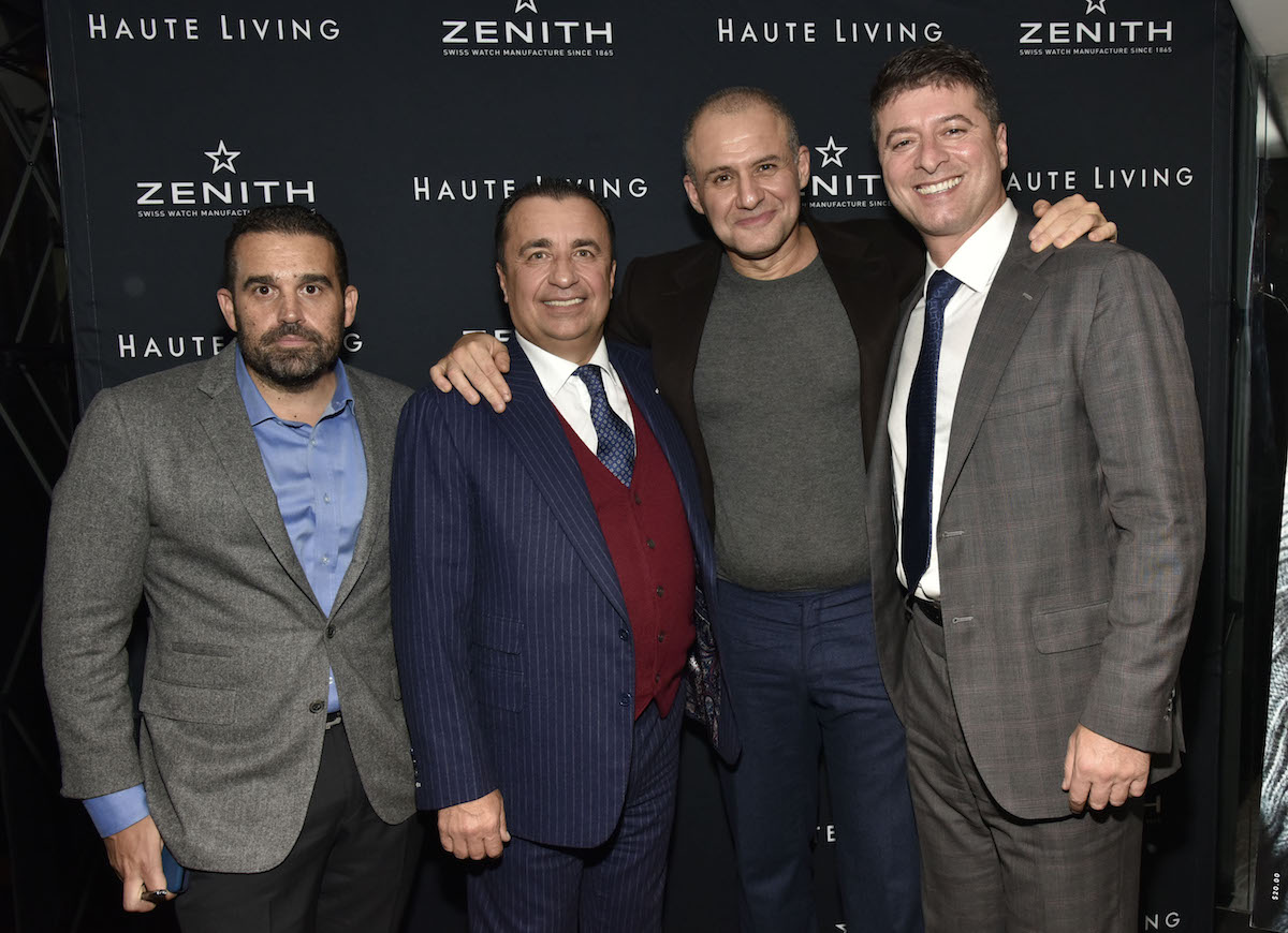 Seth Semilof, Gennady Perepada, Ronn Torossian and Edward Mermelstein attend the Haute Living And Zenith Honor Dolph Lundgren at Mr Chow in Tribeca on November 12, 2018 in New York City.