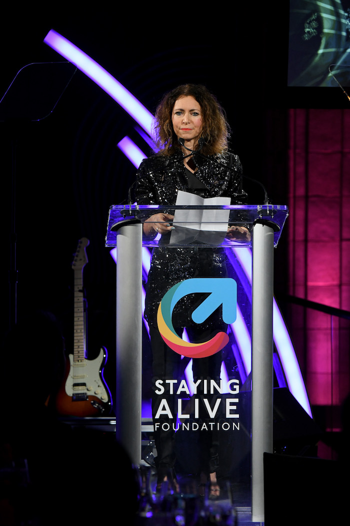 Georgia Arnold speaks onstage during MTV Staying Alive Foundation 20th Anniversary Gala at Guastavino's on November 27, 2018 in New York City.
