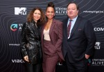 Georgia Arnold, Alicia Keys, and Bob Bakish attend the MTV Staying Alive Foundation 20th Anniversary Gala at Guastavino's on November 27, 2018 in New York City.