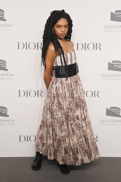 Selah Marley attends the 2018 Guggenheim International Gala Pre-Party made possible by Dior at Solomon R. Guggenheim Museum on November 14, 2018 in New York City.