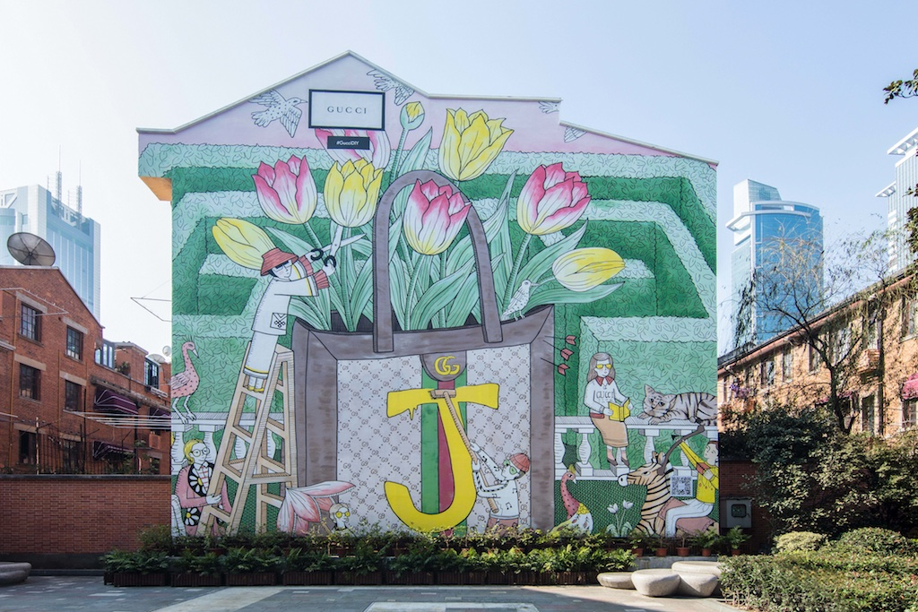 bb5ba8f905ca8c Gucci ArtWalls Feature Art With House's DIY Initiative Globally