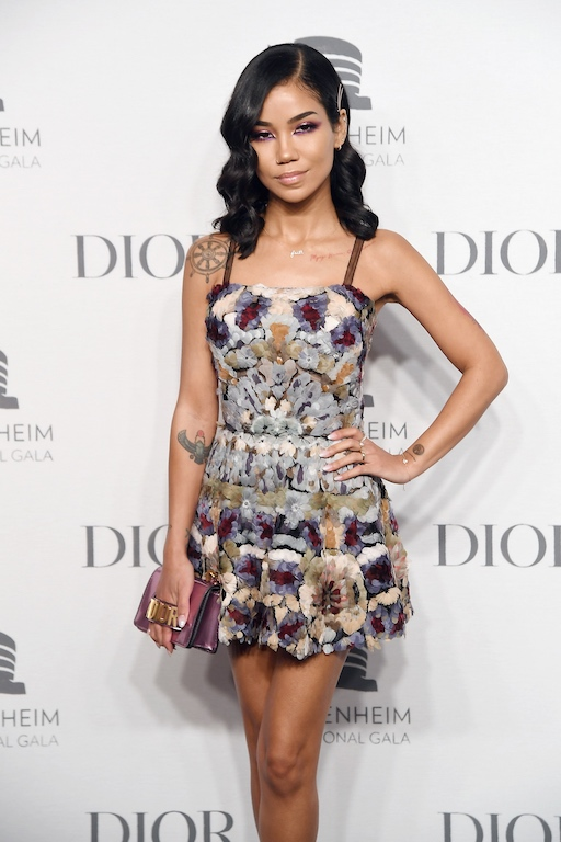 Jhene Aiko attends the 2018 Guggenheim International Gala Pre-Party made possible by Dior at Solomon R. Guggenheim Museum on November 14, 2018 in New York City.