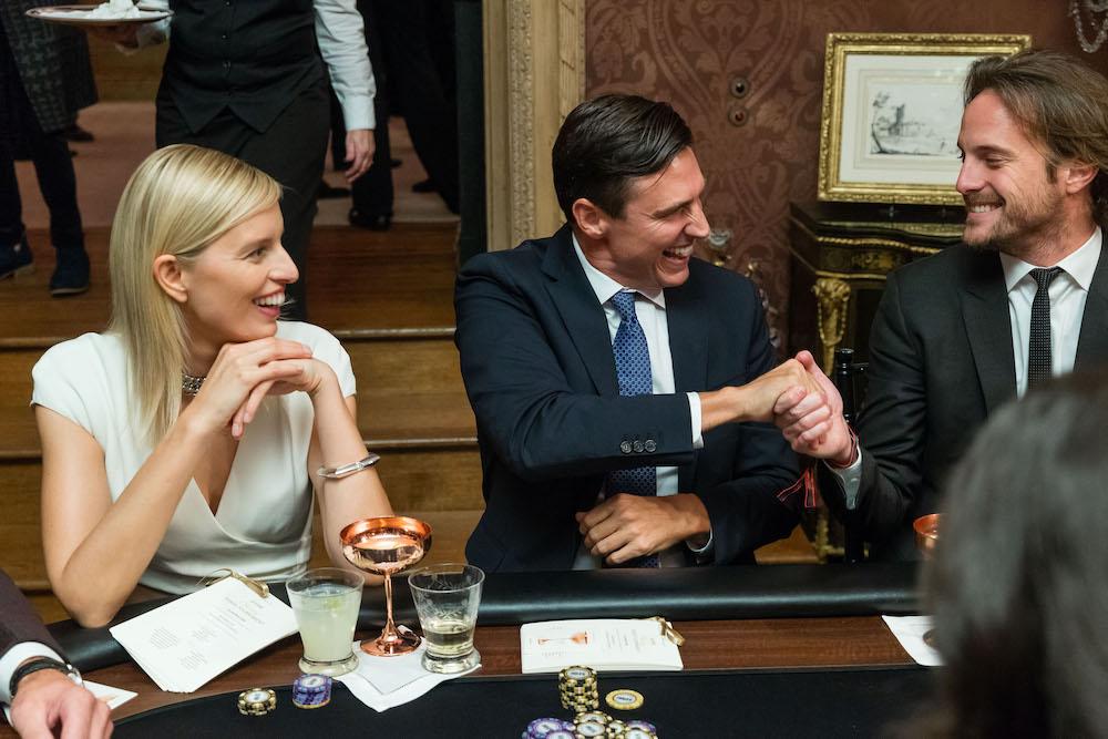 Karolina Kurkova, Archie Drury and Romain Pavee