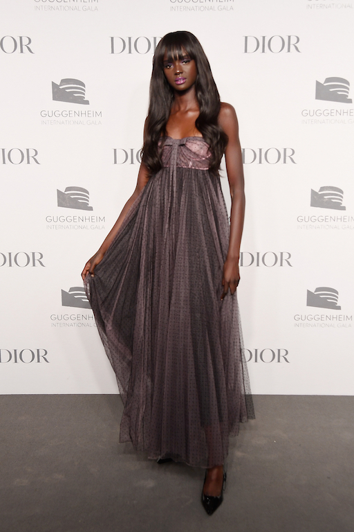 Duckie Thot attends the 2018 Guggenheim International Gala Pre-Party made possible by Dior at Solomon R. Guggenheim Museum on November 14, 2018 in New York City.