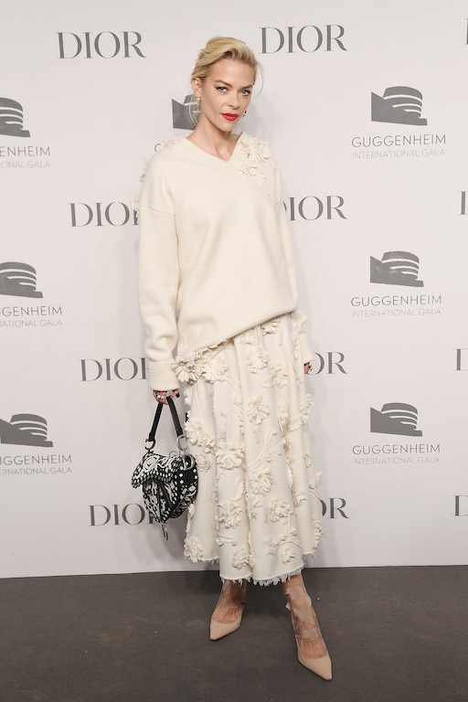 Jaime King attends the 2018 Guggenheim International Gala Pre-Party made possible by Dior at Solomon R. Guggenheim Museum on November 14, 2018 in New York City.