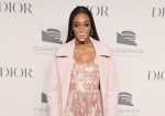 Winnie Harlow attends the 2018 Guggenheim International Gala Pre-Party made possible by Dior at Solomon R. Guggenheim Museum on November 14, 2018 in New York City.