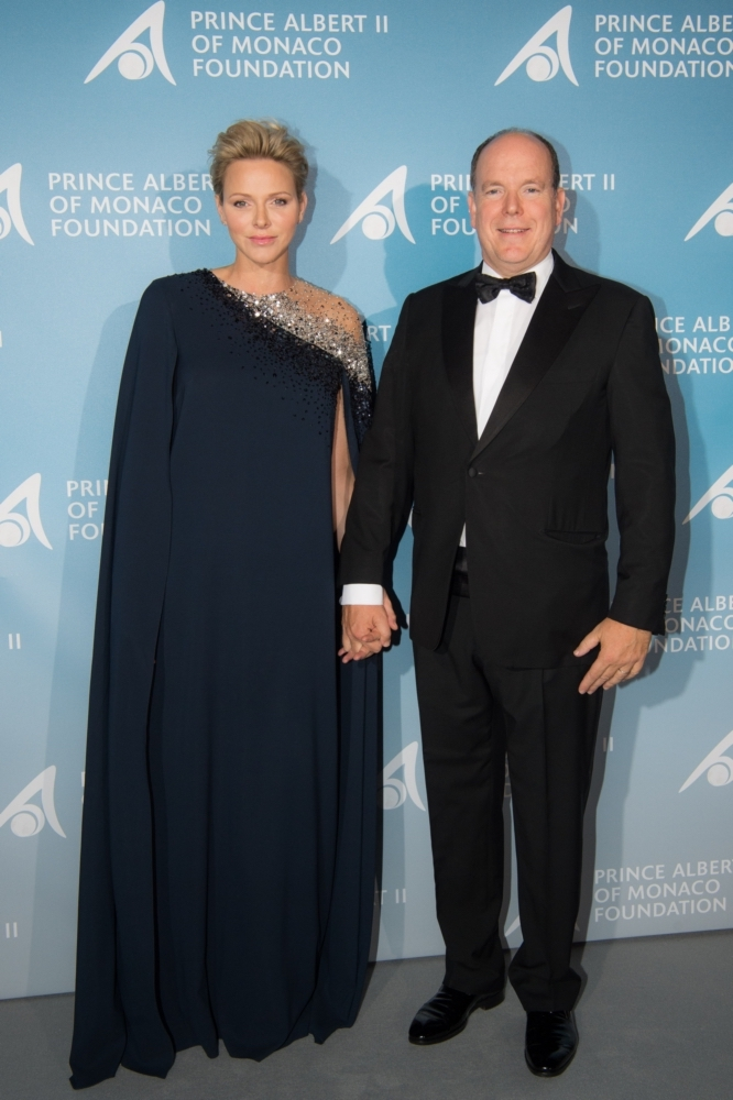 Princess Charlene of Monaco and the Prince at the gala