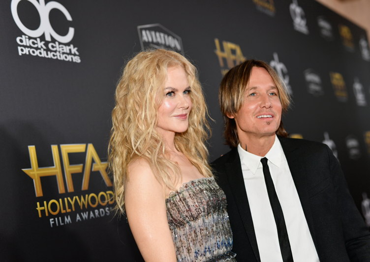 Nicole Kidman and husband Keith Urban attend the 22nd Annual Hollywood Film Awards on November 4 in Beverly Hills