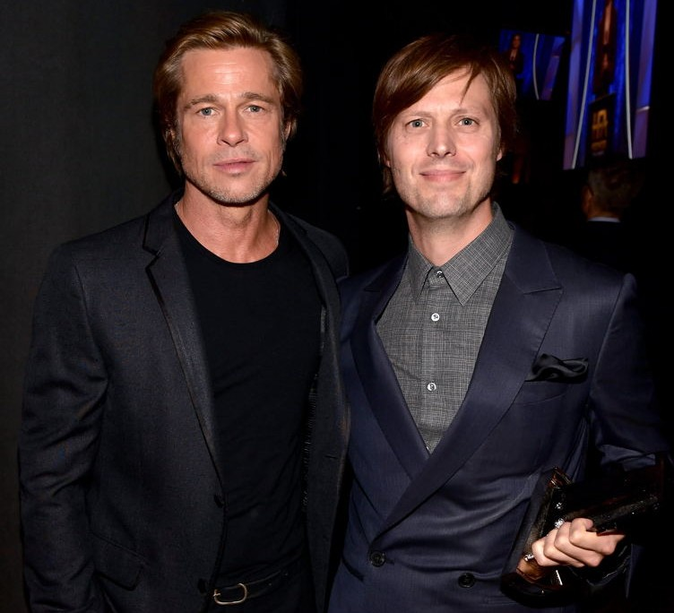 Brad Pitt and Felix Van Groeningen, recipient of the Hollywood Breakthrough Director Award for 'Beautiful Boy'