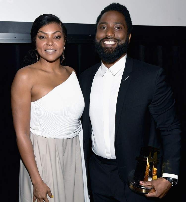 Taraji P. Henson and John David Washington, recipient of the Hollywood Breakout Performance Actor Award for 'BlacKkKlansman'