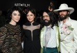 Recording artist St. Vincent, actor Dakota Johnson, Gucci Creative Director Alessandro Michele, and actor-recording artist Jared Leto, all wearing Gucci, at the 2018 LACMA Art + Film Gala honoring Catherine Opie and Guillermo del Toro at LACMA on November 3