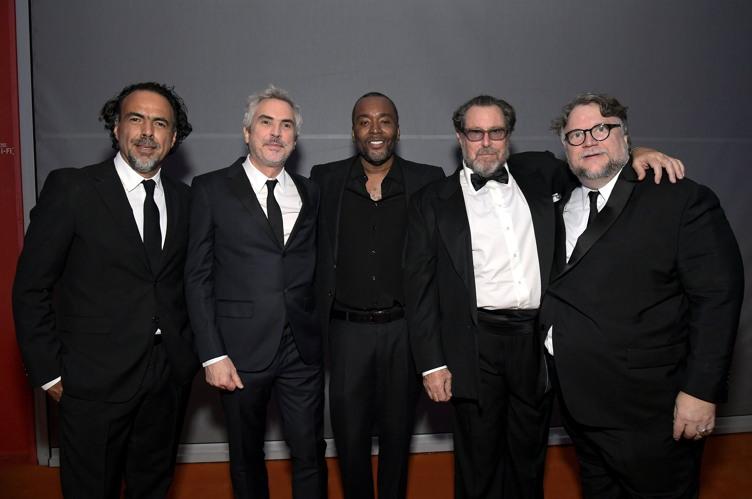 Directors Alejandro Gonzalez Inarritu , Alfonso Cuaron, Lee Daniels, Julian Schnabel, and honoree Guillermo del Toro