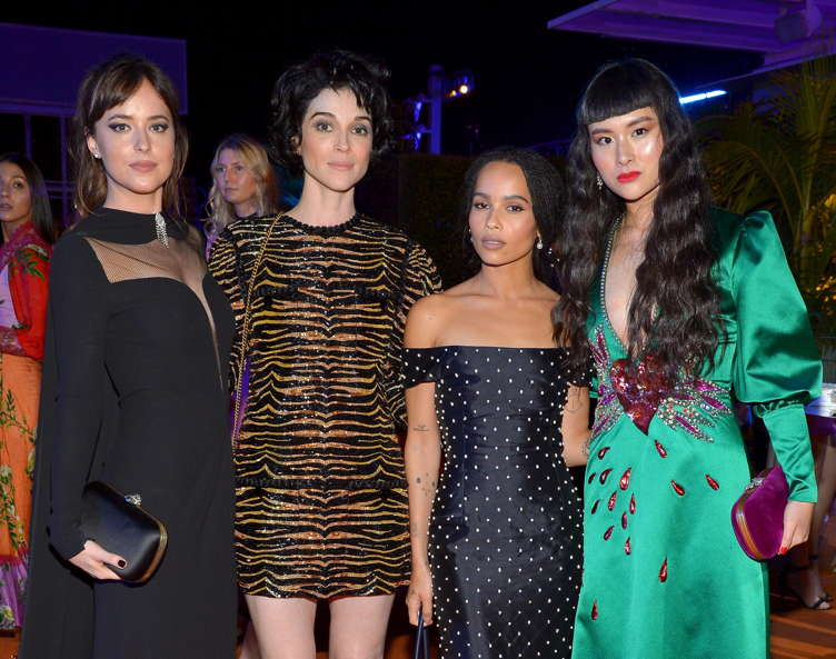 Dakota Johnson, musician St. Vincent, actor Zoe Kravitz, and Asia Chow