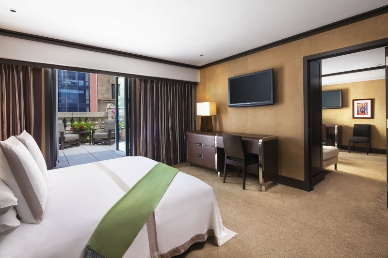 Chatwal Suite Bedroom and Private Terrace