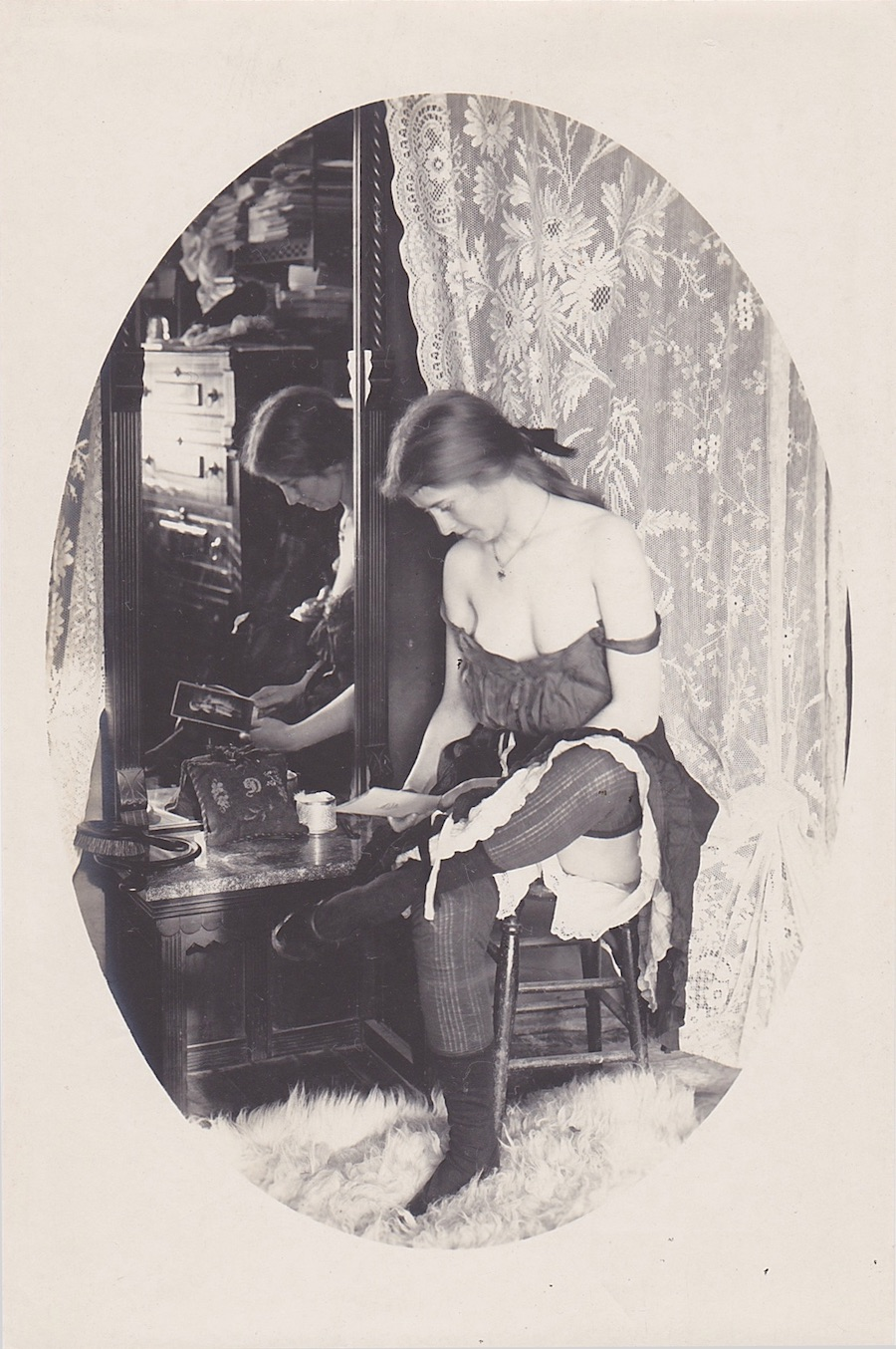 A working girl image from the exhibit