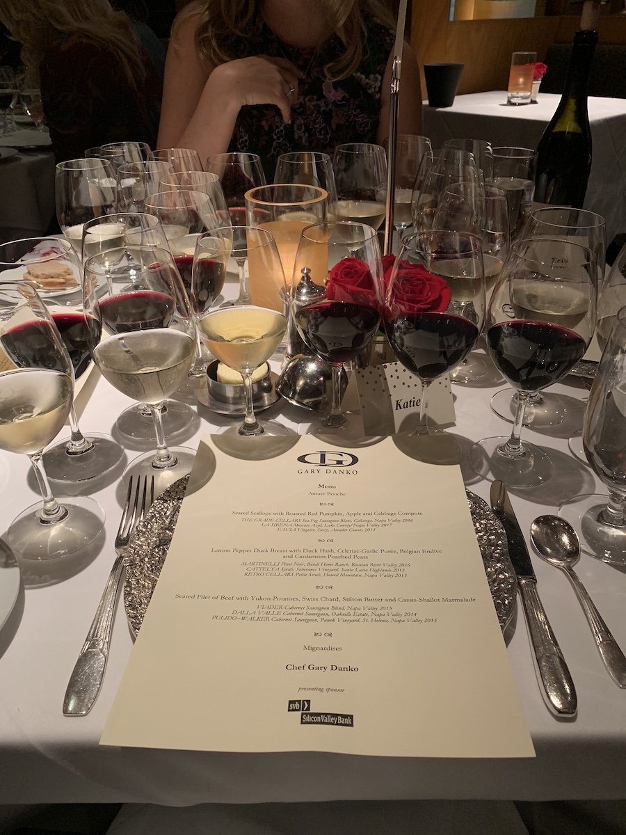 The wine lineup