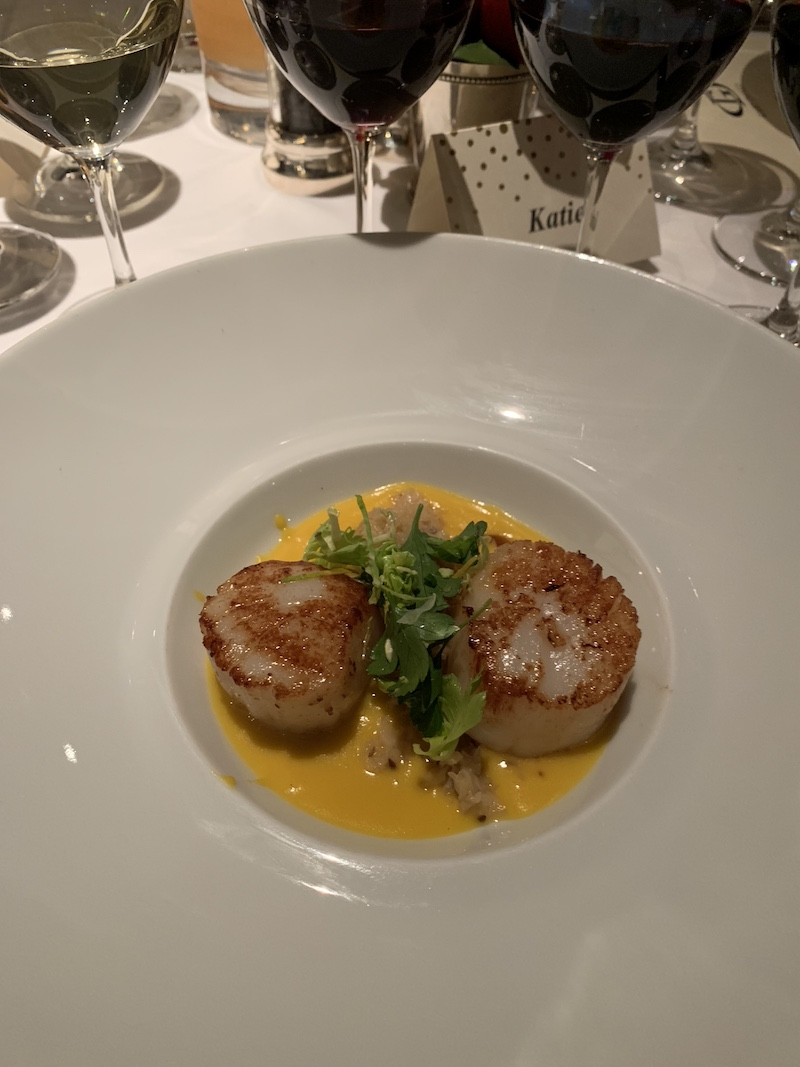The scallop course