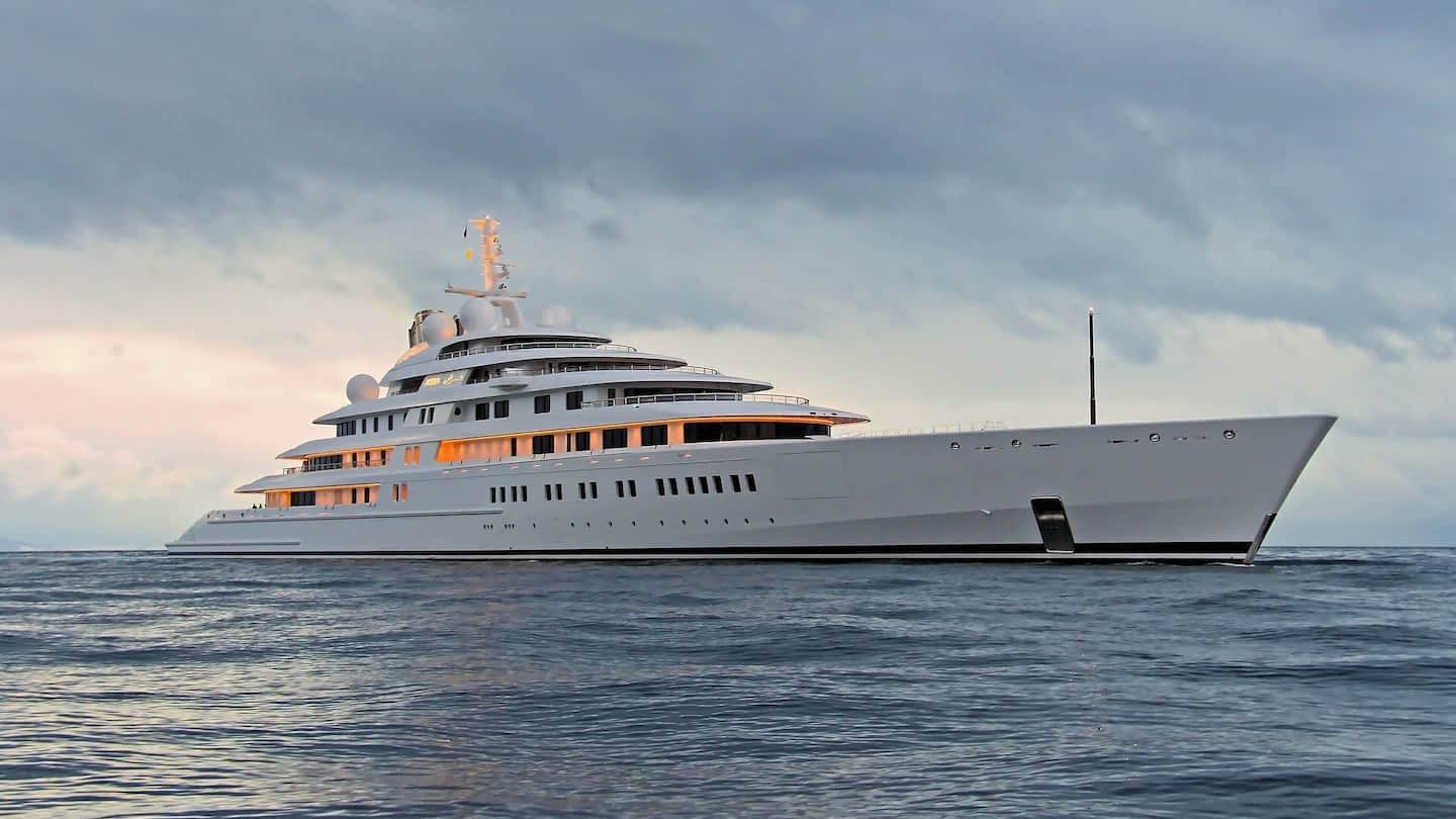 Another look at the largest yacht in the world, the 180-meter Azzam,