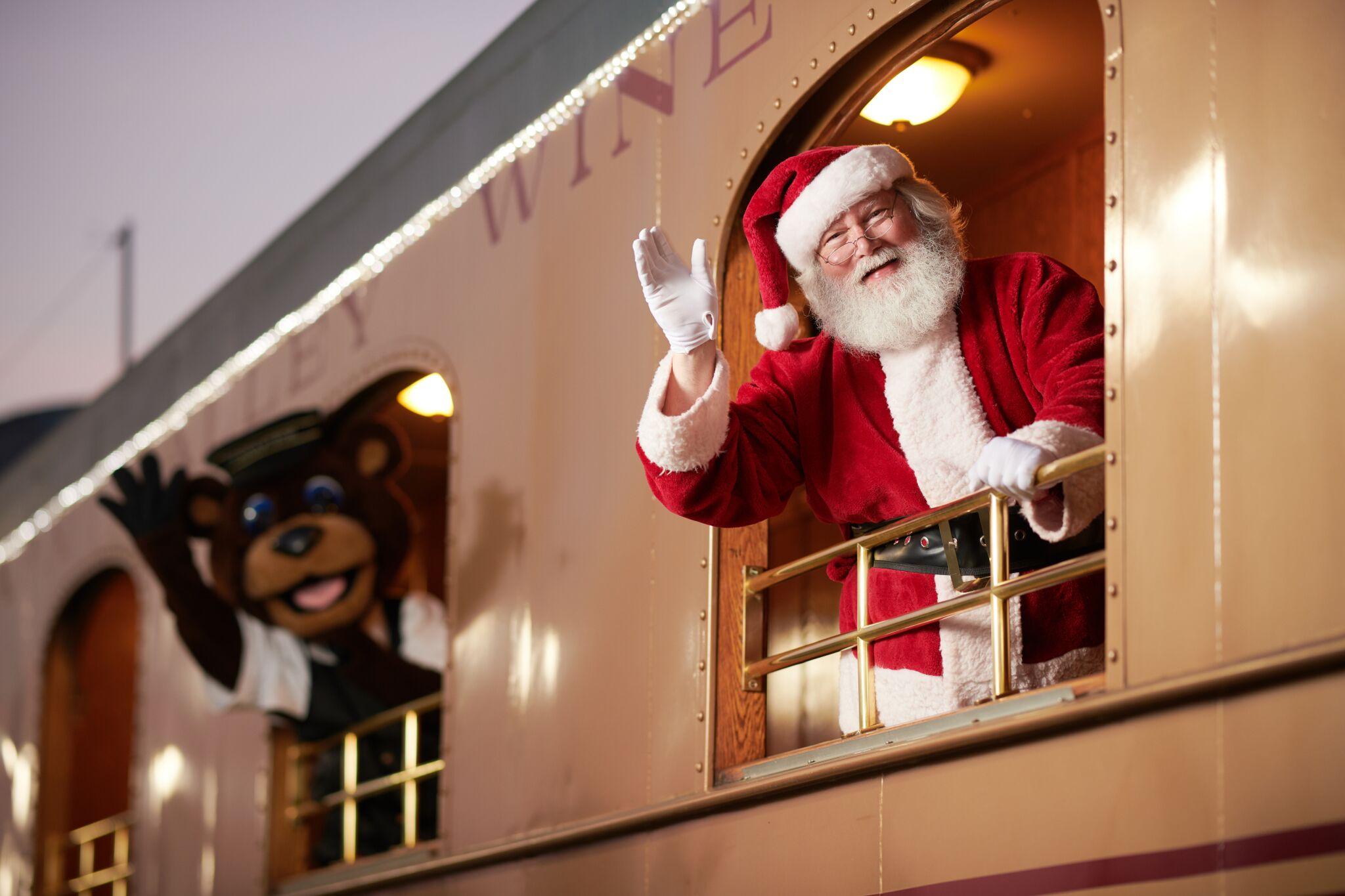 Jolly the Bear and Santa