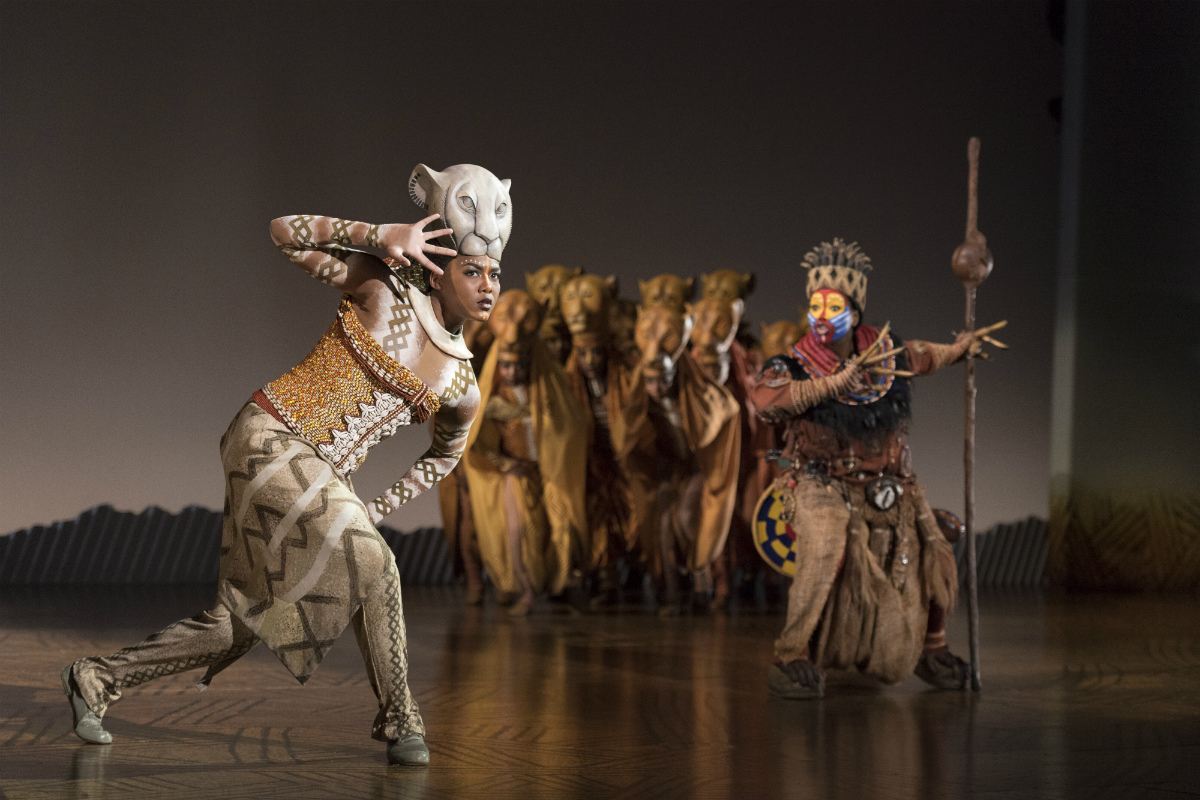 "Nia Holloway as ""Nala"" Buyi Zama as ""Rafiki"" and ""The Lionesses"" in THE LION KING North American Tour"