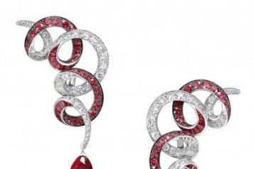 RGE1293_GE27897_pave_swirl_Pear_shape_diamond_ruby_drop_earrings