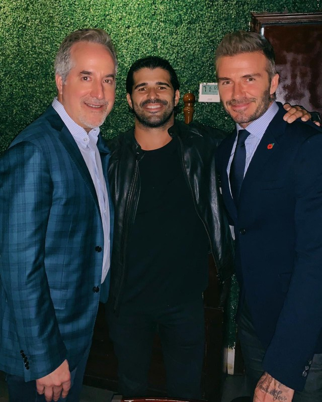 Jorge Mas, Alexander Mijares, David Beckham