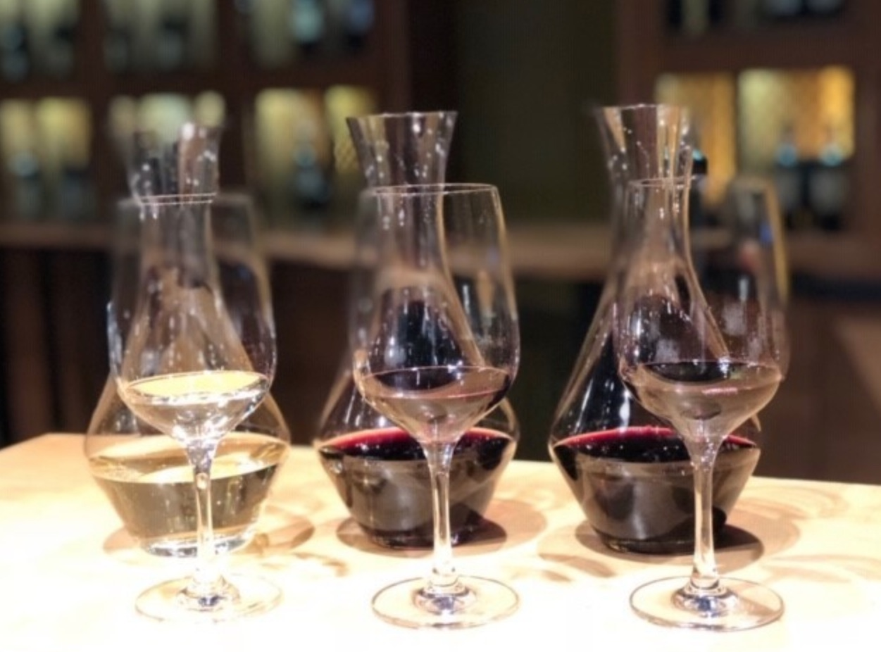 A blind tasting at One Market