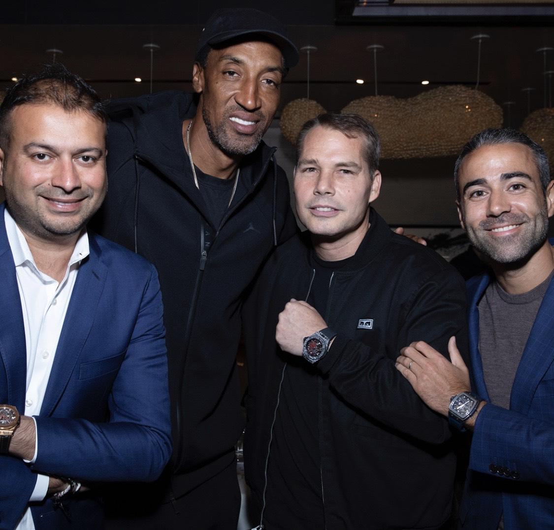 Kamal Hotchandani, Scottie Pippen, Shepard Fairey and Jean-François Sberro