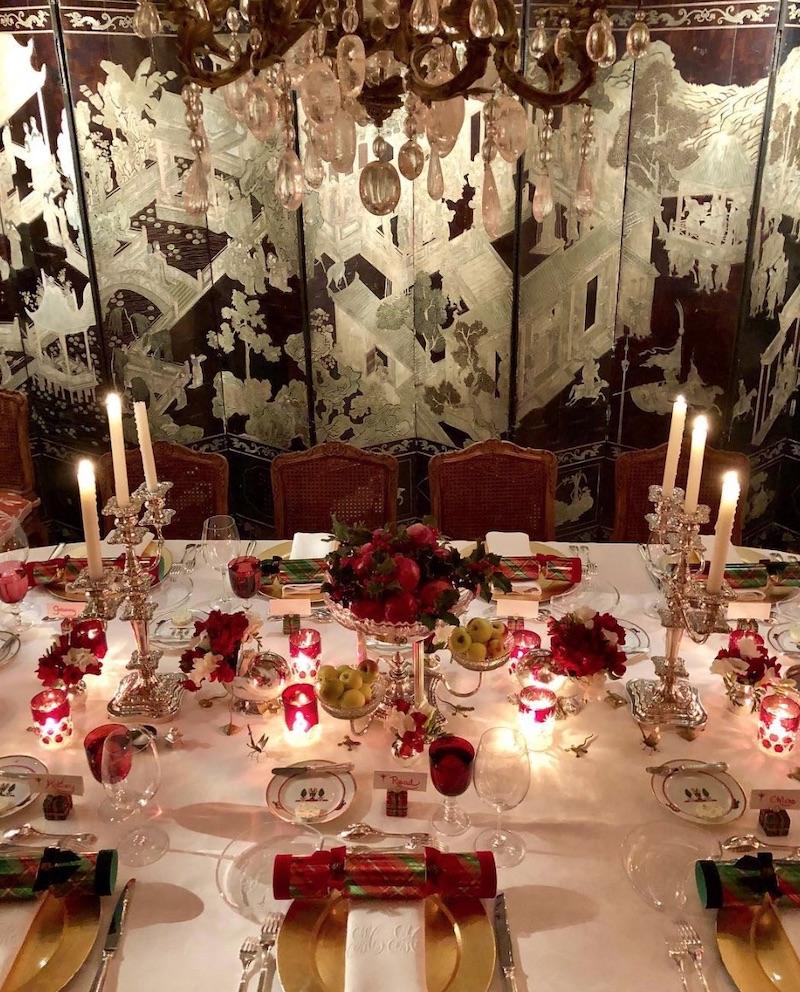 Tucker's table last Christmas Eve