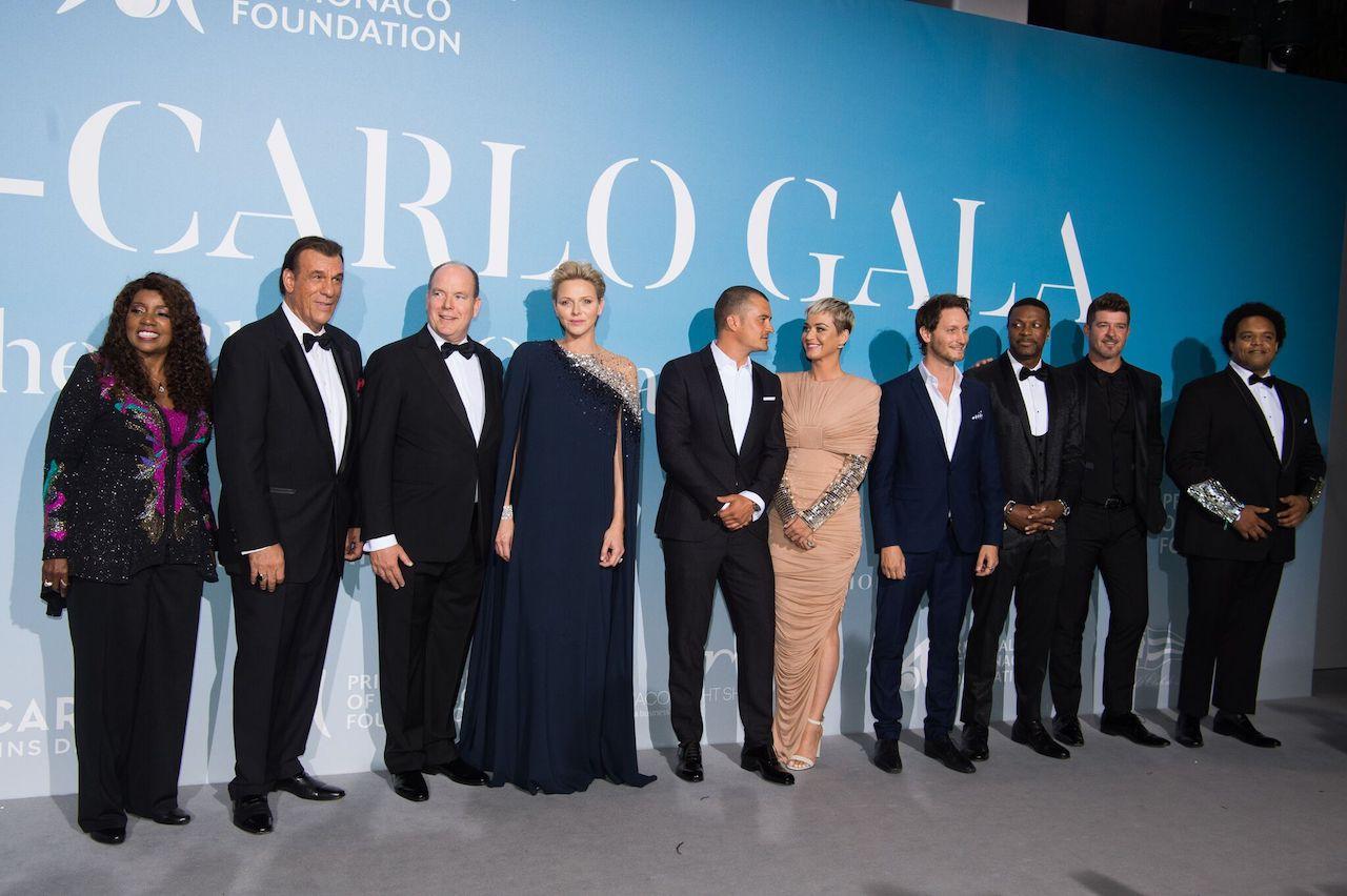 Gloria Gaynor, Robert Davi, Albert II of Monaco, Charlene of Monaco, Orlando Bloom, Katy Perry, Lior Suchard, Chris Tucker and Robin Thicke