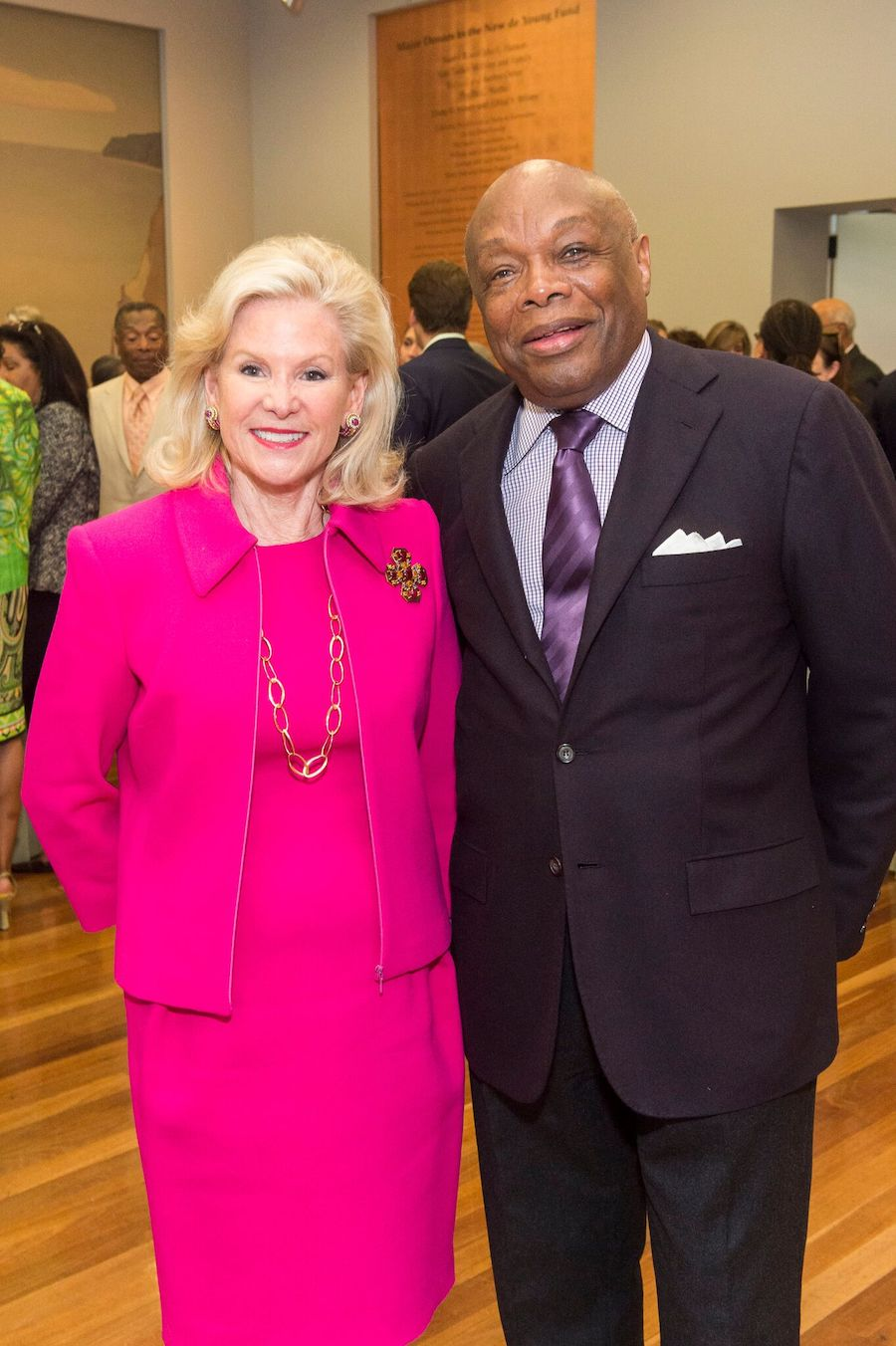 Former mayor Willie Brown and Wilsey at the Revelations Donor Reception at the de Young in June 2017