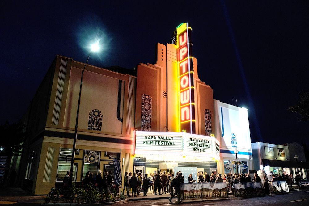 The line outside the Uptown Theater in downtown Napa