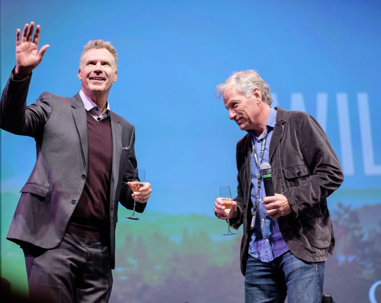 Will Ferrell and Andrew Steele at the 2017 NVFF