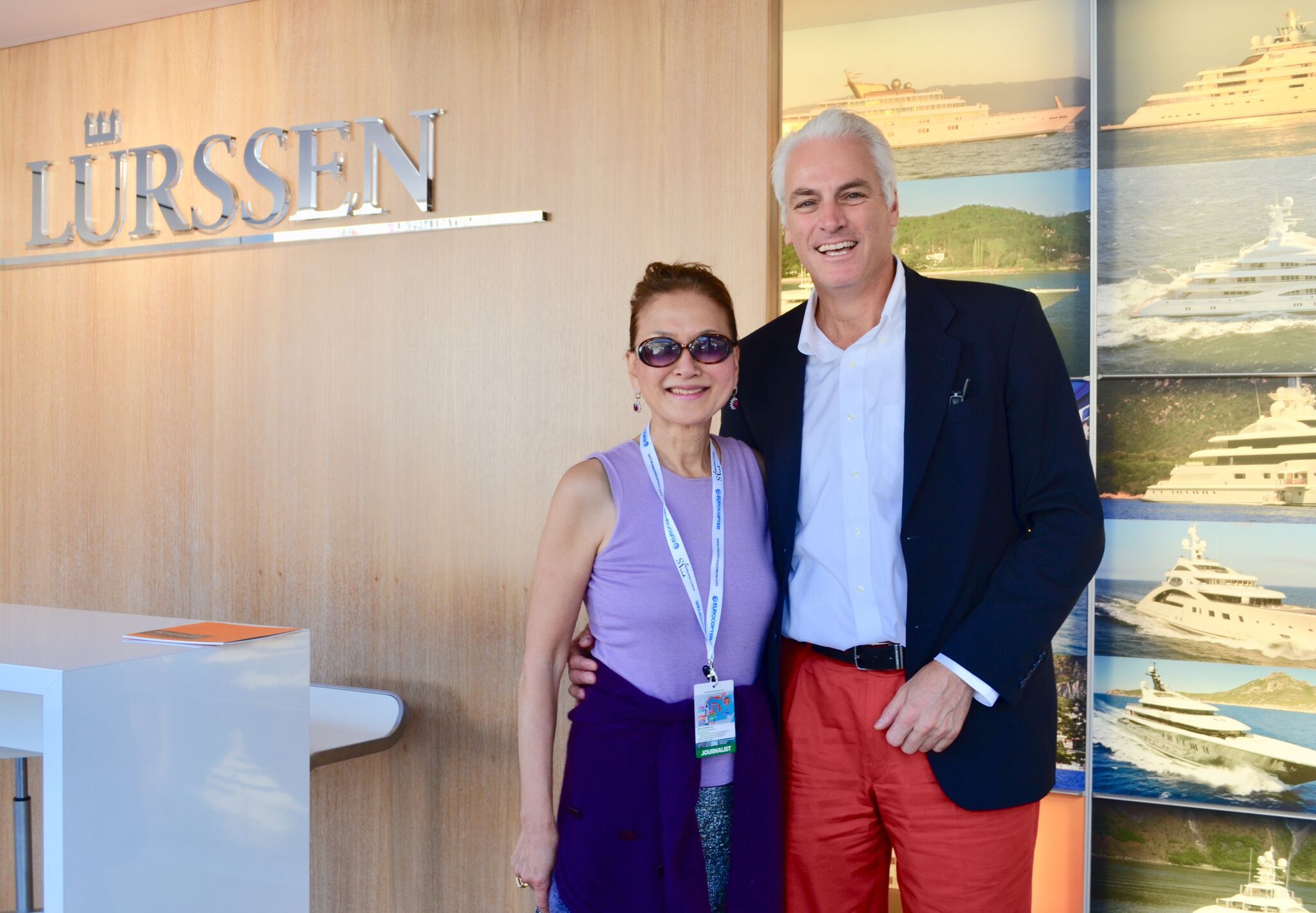 The author with Peter Lürssen at the 2018 Monaco Yacht Show