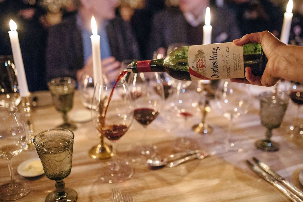Last year's vintner's dinner at Charles Krug