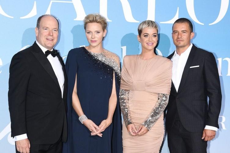 Charlene of Monaco, Albert II of Monaco, Katy Perry, and Orlando Bloom at the event