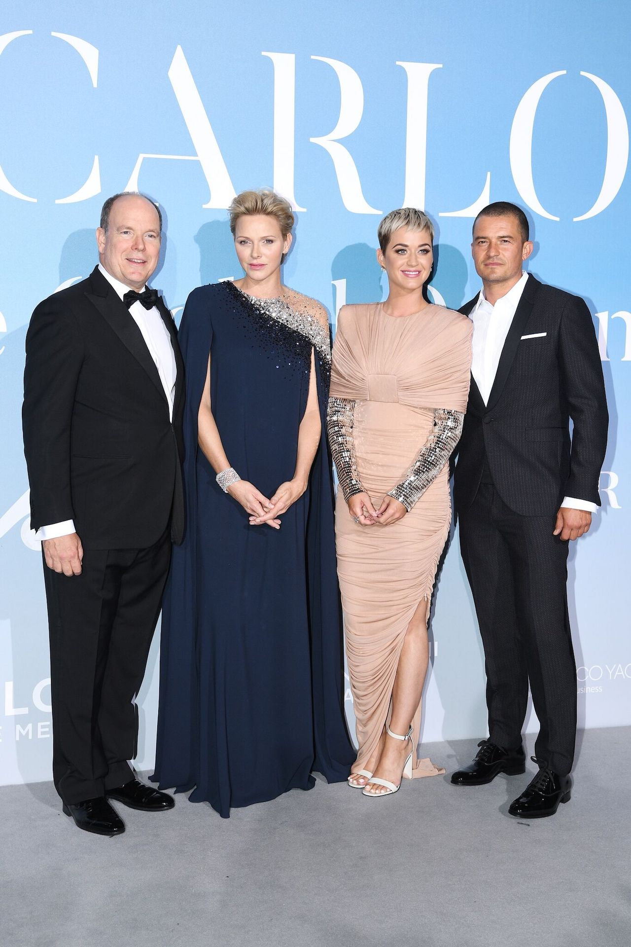 Charlene of Monaco, Albert II of Monaco, Katy Perry, and Orlando Bloom at the event