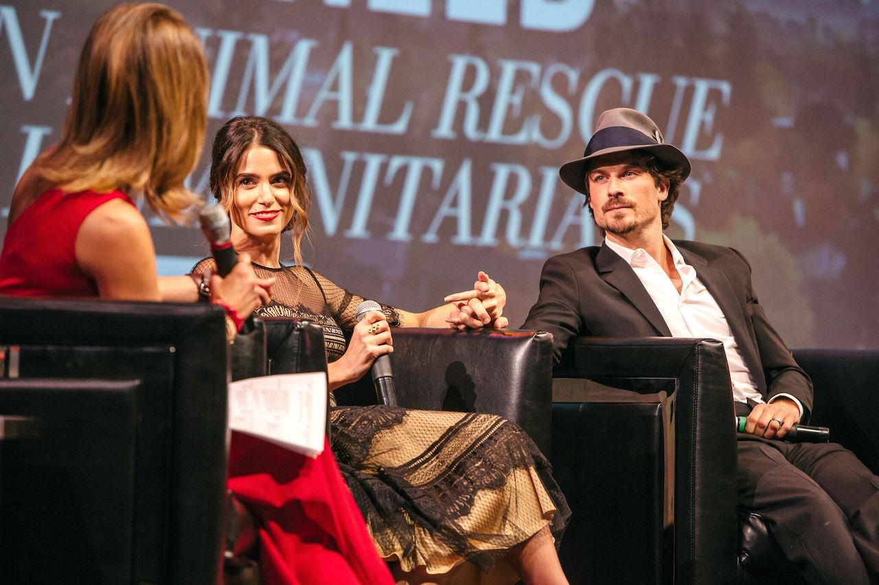 Natalie Morales, Nikki Reed, and Ian Somerhalder at a tribute in 2017