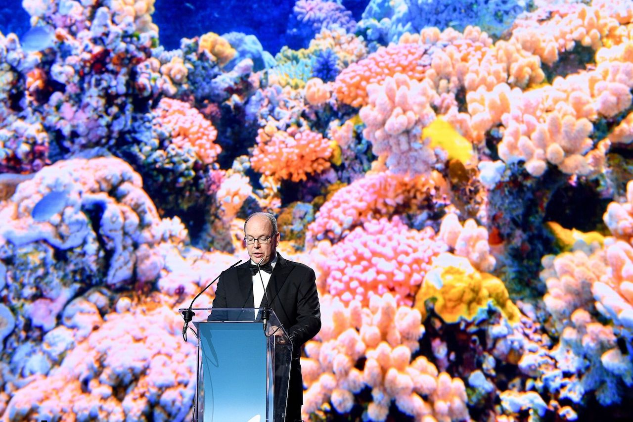 The Prince speaking at the 2018 Monte Carlo gala