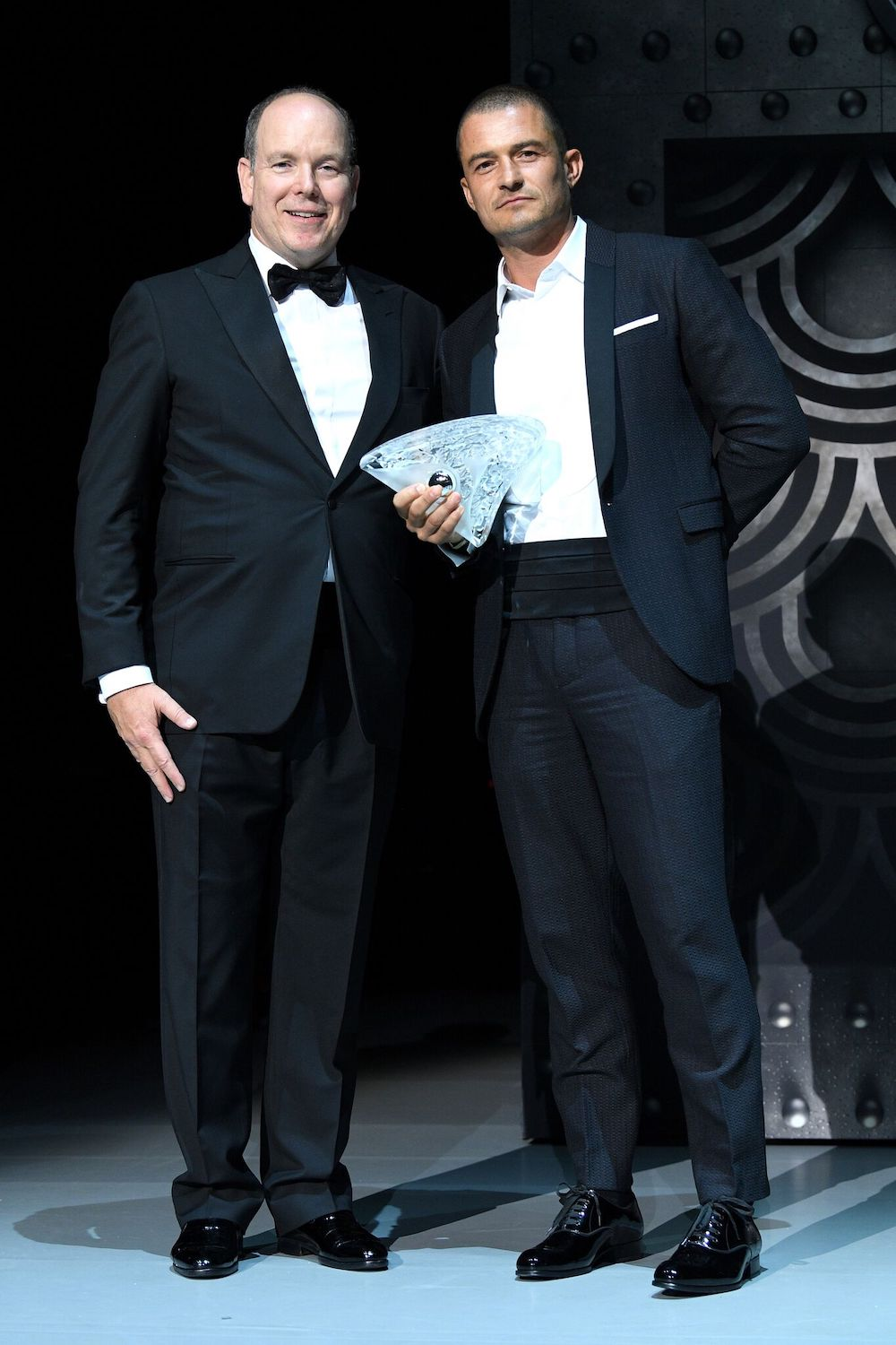 Prince Albert and 2018 award recipient Orlando Bloom