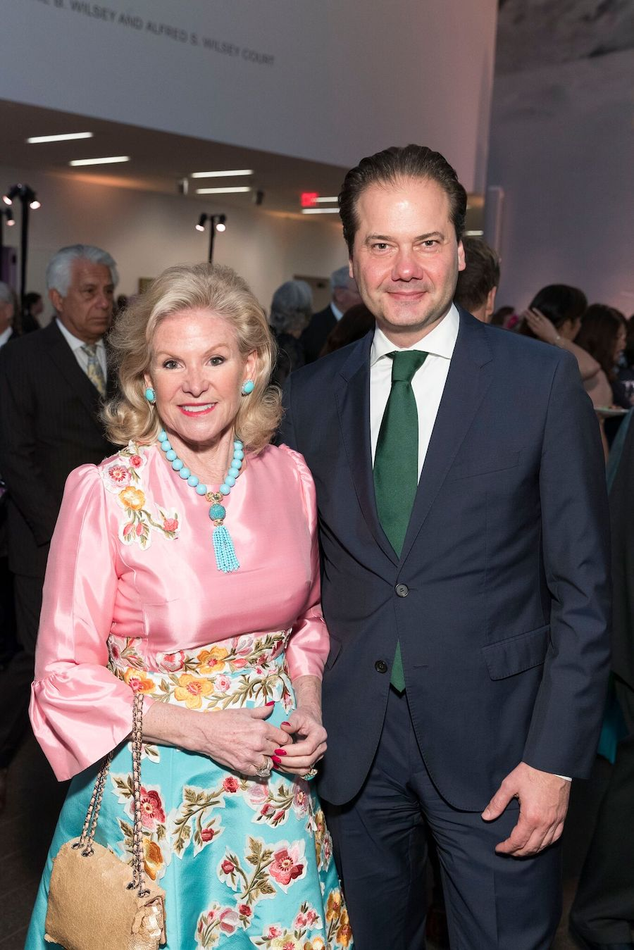 Wilsey and the former director of FAMSF Max Hollein at the 2018 Bouquets to Art Gala at the de Young museum