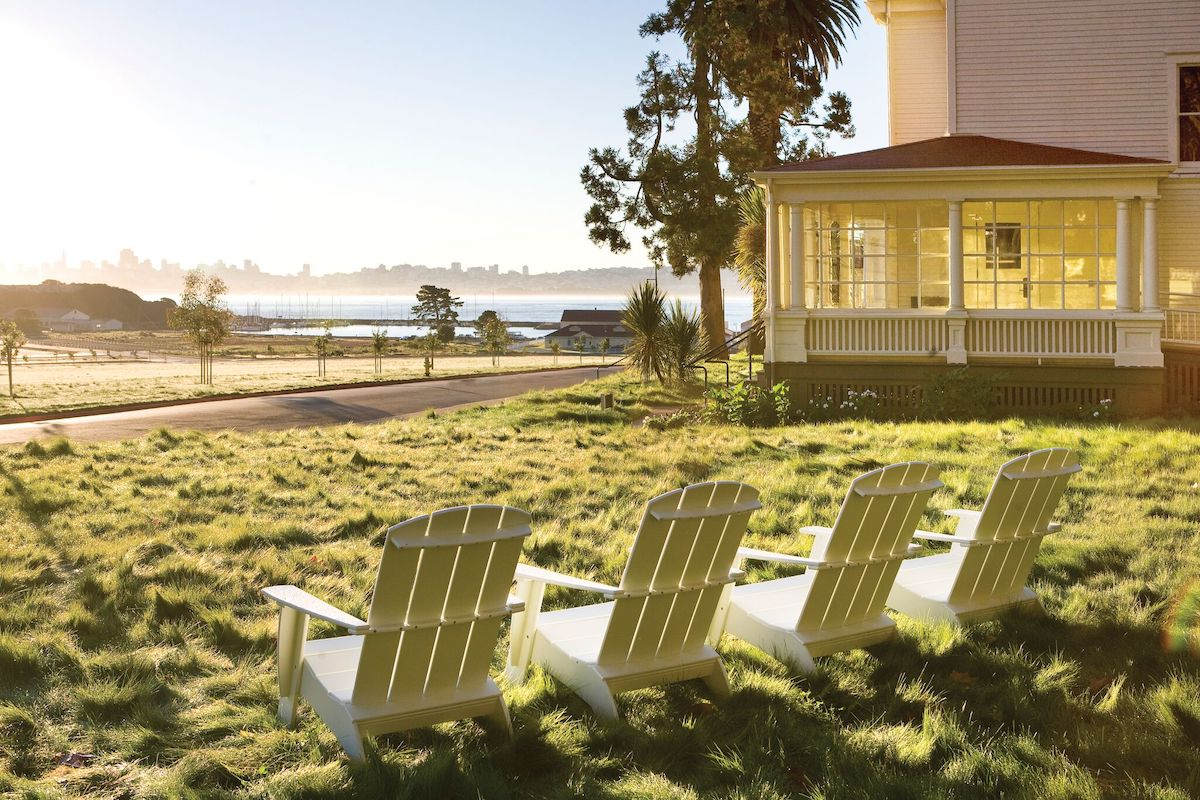 The view from Cavallo Point Lodge