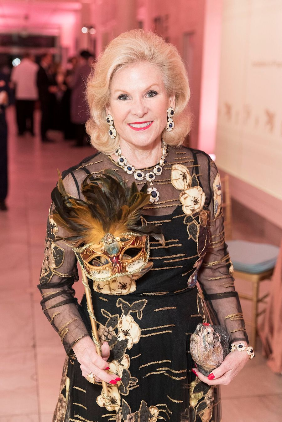 Dede Wilsey at the Casanova black-tie dinner at the Legion of Honor in February